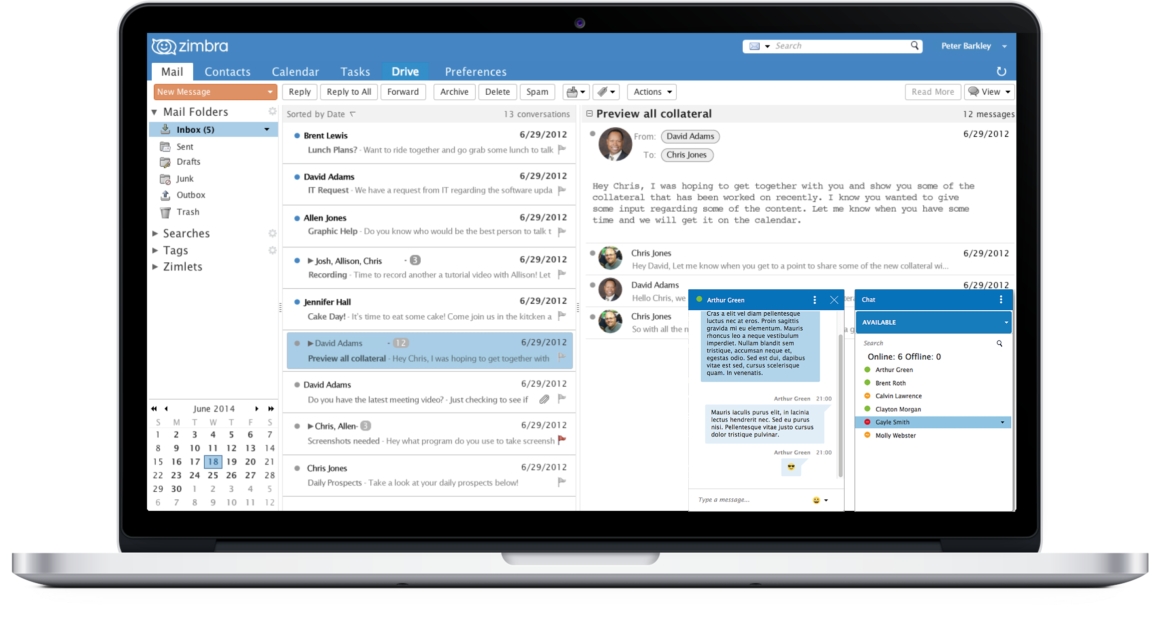 Zimbra desktop email cloud